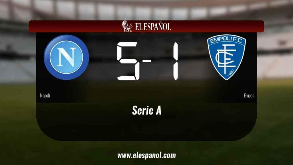 El Nápoles derrotó al Empoli por 5-1