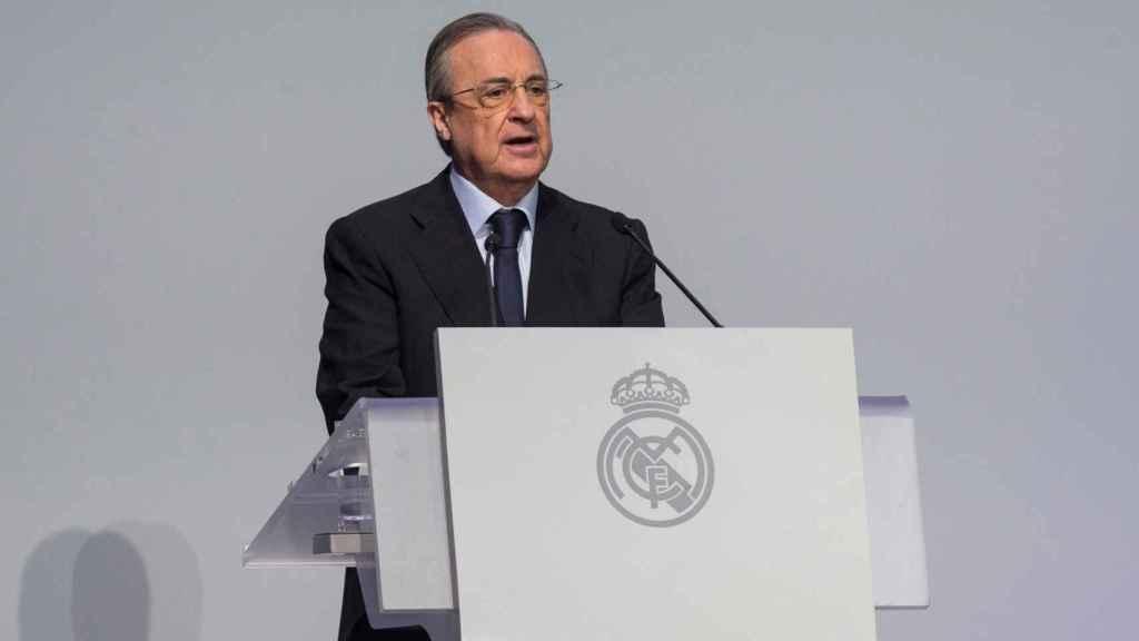 Florentino Pérez, durante un acto del Real Madrid CF