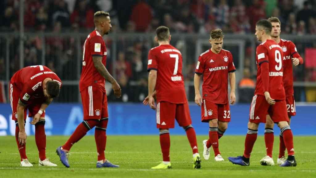 Jugadores del Bayern Múnich, decepcionados por su mala situación