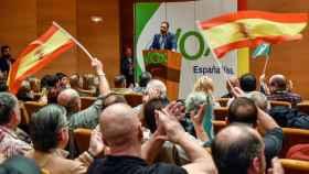 Abascal, durante su alocución el pasado sábado, en Bilbao.