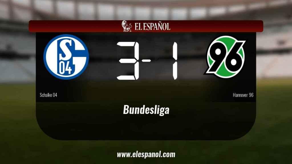 El Schalke 04 se queda los tres puntos frente al Hannover 96
