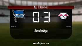 El Hertha BSC cae derrotado ante el RB Leipzig por 0-3