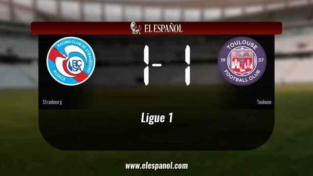 El Strasbourg empató ante el Toulouse (1-1)