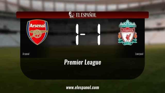 Reparto de puntos entre el Arsenal y el Liverpool, el marcador final fue 1-1