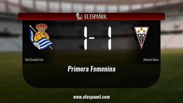 Reparto de puntos entre la Real Sociedad y el Fundación Albacete, el marcador final fue 1-1