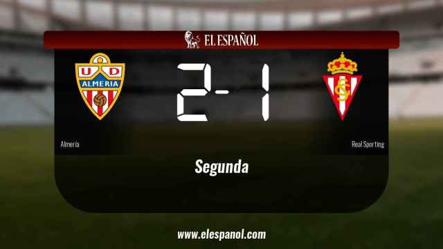 El Almería ganó en casa al Real Sporting