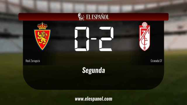 El Granada vence en La Romareda al Real Zaragoza (0-2)
