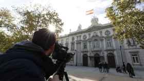 Exterior del Tribunal Supremo, donde este lunes se reúne el Pleno.