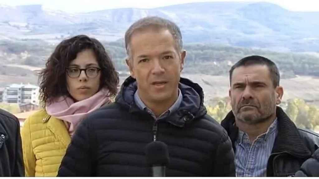 Ander Gil, portavoz del PSOE en el Senado, en Medina de Pomar (Burgos).