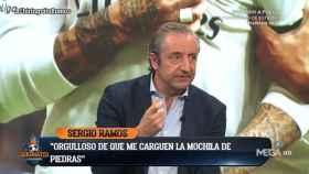 Josep Pedrerol en El Chiringuito. Foto: Twitter. (@elchiringuitotv)