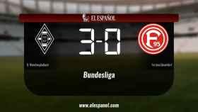 El Borussia Monchengladbach derrotó al Fortuna Düsseldorf por 3-0
