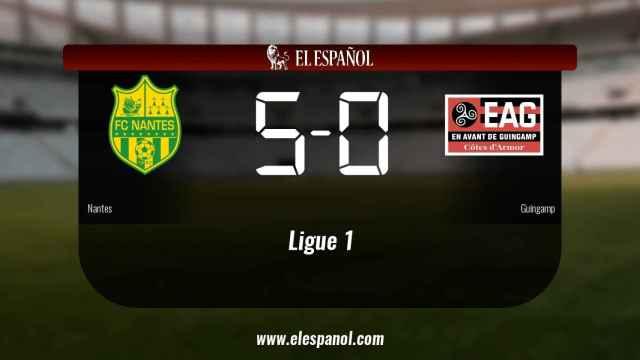Los tres puntos se quedaron en casa: Nantes 5-0 Guingamp
