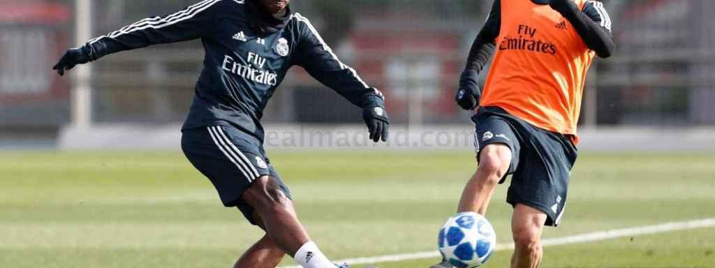 Vinicius e Isco, en un entrenamiento del Real Madrid