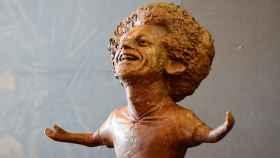 Escultura del jugador Mohamed Salah