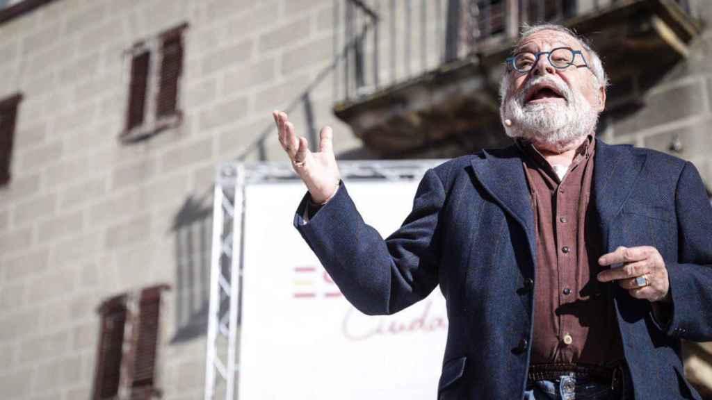Fernando Savater, durante su discurso en Alsasua.