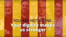 Nuevo vídeo de los independentistas a la comunidad internacional.