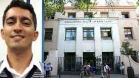 Pedro Antonio Ramos Lominchar; a la derecha, fachada del colegio Maravillas de Madrid.