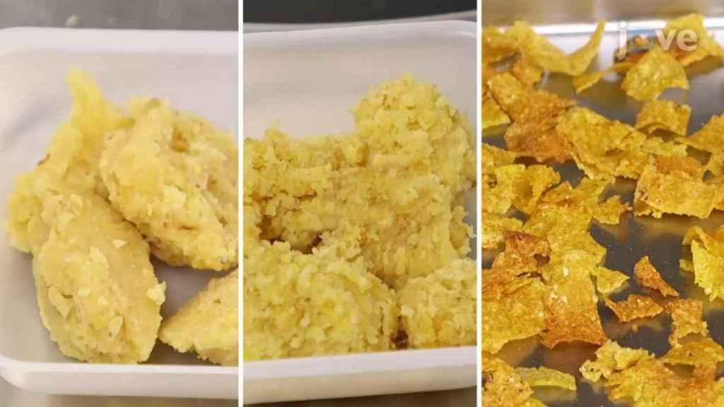 El proceso de producción de los cornflakes.
