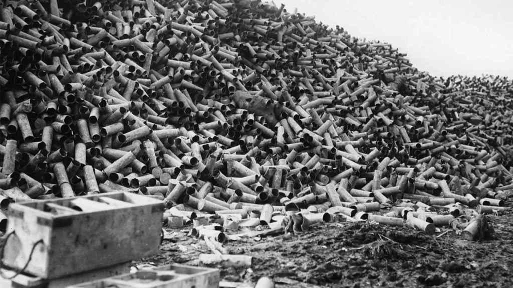 La artillería británica lanzó un millón y medio de proyectiles antes del ataque de la infantería, el 1 de julio de 1916.