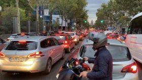 Atasco en el centro de Madrid.