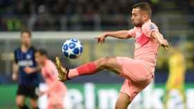 Jordi Alba, ante el Inter de Milán.