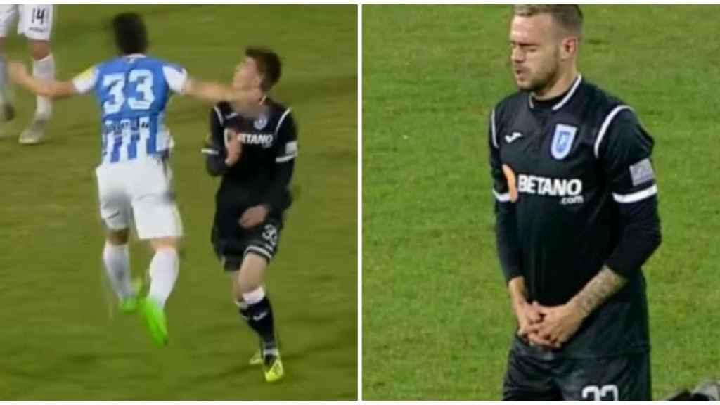 La increíble reacción de un futbolista cuando su compañero queda inconsciente