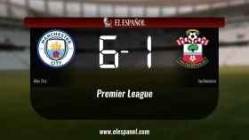 El Manchester City se queda los tres puntos frente al Southampton