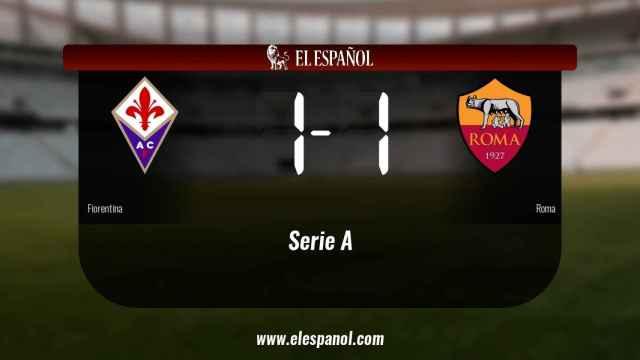 La Fiorentina no pudo conseguir la victoria ante la Roma (1-1)