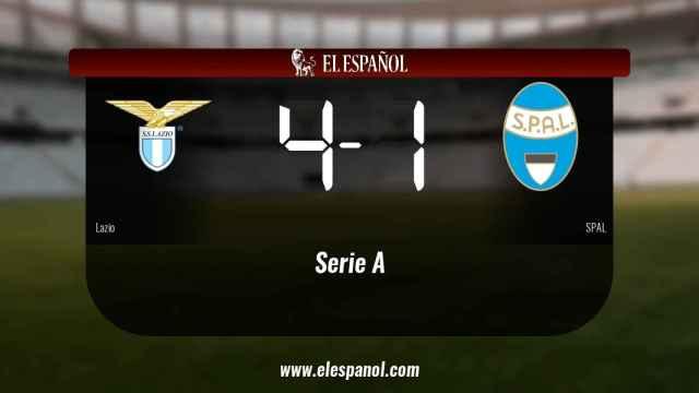 Triunfo del Lazio por 4-1 frente al SPAL