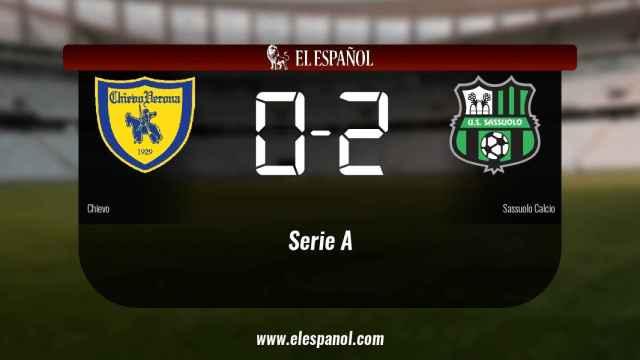 El Sassuolo se lleva tres puntos a casa después de vencer al Chievo