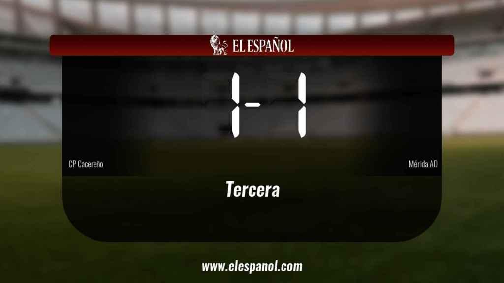 El Cacereño y el Mérida AD empatan (1-1)