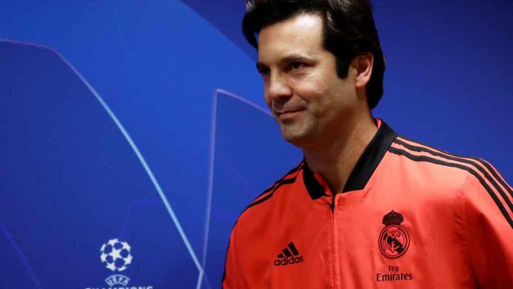Solari, en rueda de prensa previa a un partido de la Champions League