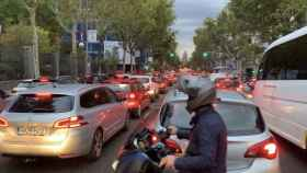 Atascos en el centro de Madrid.