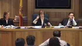 Angela Murillo, presidiendo el juicio a Otegi./