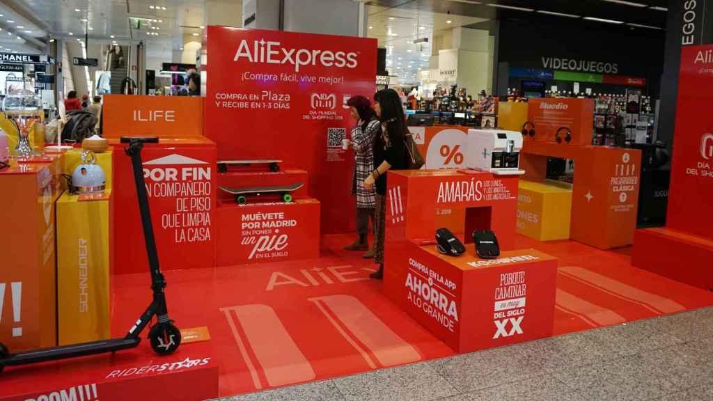La tienda 'pop up' de AliExpress en El Corte Inglés.