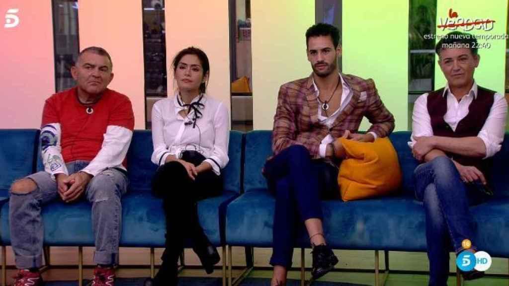 Los cuatro nominados de este martes: Koala, Miriam, Asraf y Ángel.