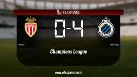 El Monaco pierde 0-4 frente al Club Brugge