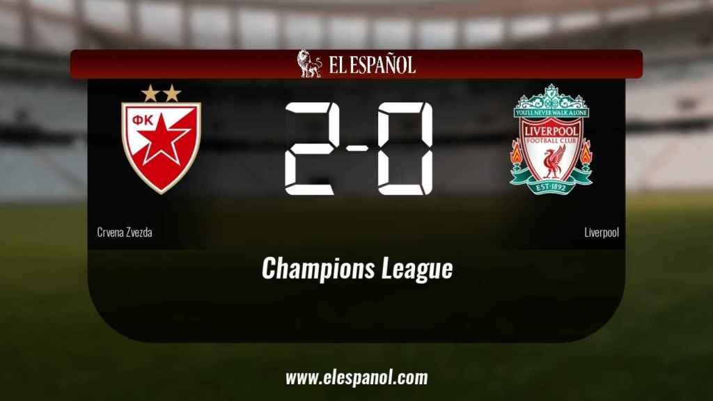 Tres puntos para el equipo local: Crvena Zvezda 2-0 Liverpool