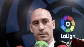 Luis Rubiales en la Asamblea de LaLiga