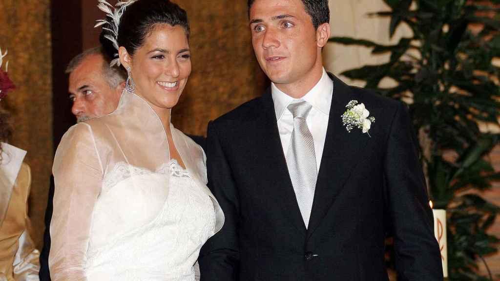 Rocío en el día de su boda en 2005.