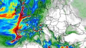 Predicción de la acumulación de precipitaciones para el domingo según el modelo ICON-EU