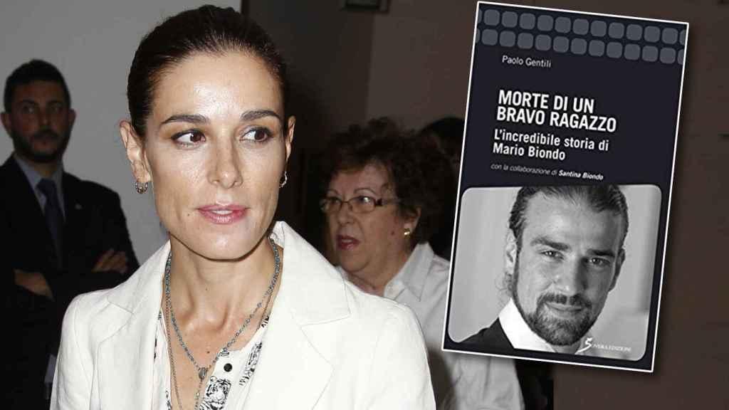 Raquel Sánchez Silva en un montaje junto al libro de Mario Biondo.