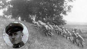 El teniente alemán Erwin Rommel y una ofensiva de las tropas alemanas durante la Gran Guerra.