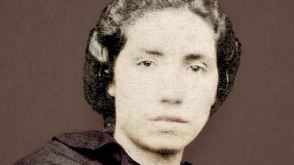 Un retrato de Rosalía de Castro.