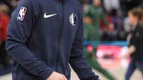 Luka Doncic, antes de un partido de Dallas Mavericks