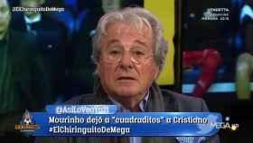 D'Alessandro en El Chiringuito. Foto: Twitter (@elchiringuitotv)