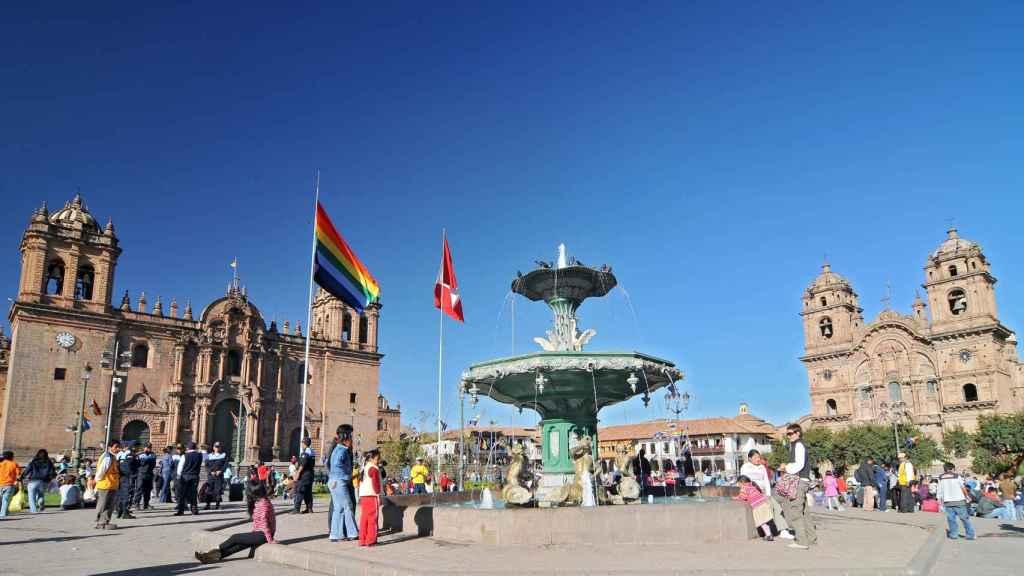 La plaza de armas de Cuzco.