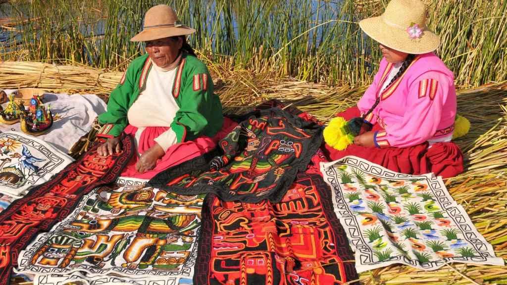 Mujeres aimaras del lago Titicaca.