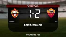 La Roma doblegó al CSKA de Moscú por 1-2