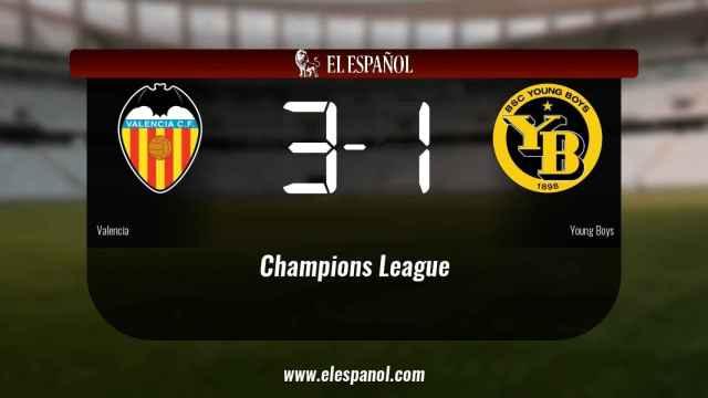 Triunfo del Valencia por 3-1 frente al Young Boys